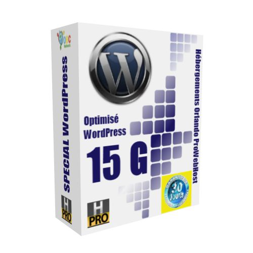 Hébergement WordPress Standard 15G : PLAN ANNUEL UNIQUEMENT