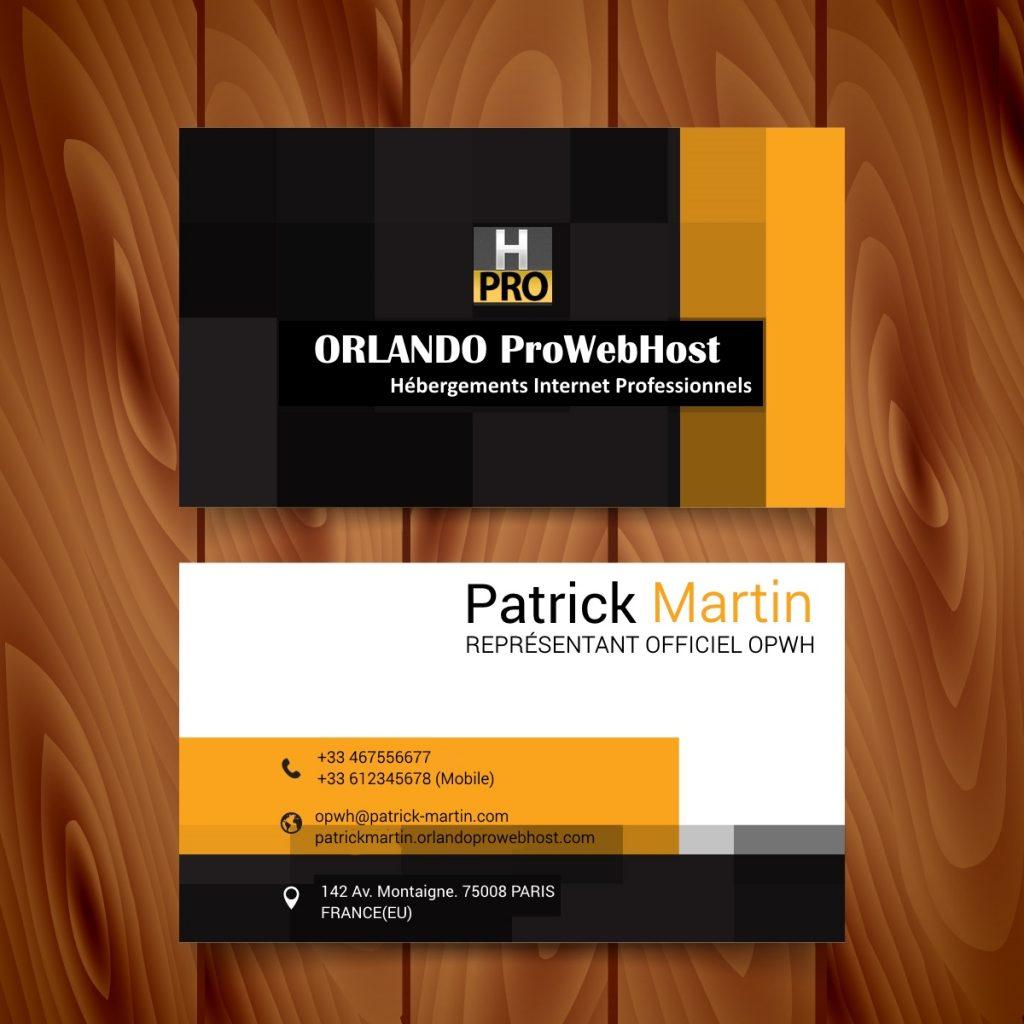 Carte de visite Partenaire Officiel OPWH