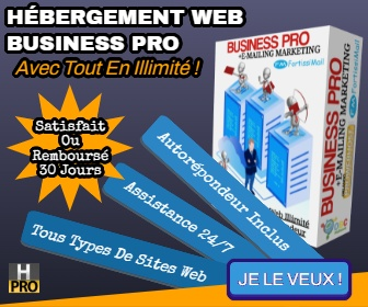 Hébergement Web Spécial BUSINESS
